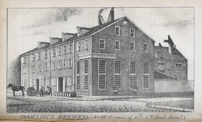 Dawson's Brewery (Courtesy of the Library Company)